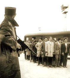 French soldiers gathering Jewish persons. Paris 1940. French police actually asked the German invaders if they should arrest the children too. There were hundreds of concentration camps throughout France that are unknown to most people. French police took the Jewish people they rounded up to a stadium in Paris first. From there the French railways transported most of those rounded up to their death in German Concentration/murder camps.