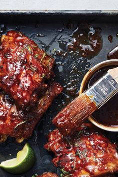 Pressure Cooker Sticky Tamarind Baby Back Ribs These gingery sweet-and-sour glazed ribs are tender and intensely flavored — and pretty mu. Pressure Cooker Recipes, Pressure Cooking, Slow Cooker, Rib Recipes, Cooking Recipes, Cooking Time, Recipies, Dinner Recipes, Dinner In An Instant