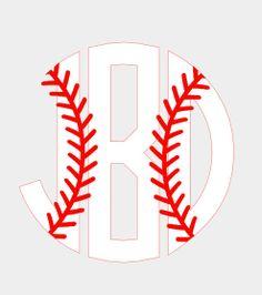 3 Baseball Circle Monogram by TheMonogramParlor on Etsy, $4.00