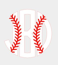 3 Baseball Circle Monogram by TheMonogramParlor on Etsy, $4.00