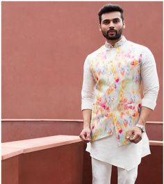 Photo By Siddhesh Chauhan - Groom Wear Mens Indian Wear, Mens Ethnic Wear, Indian Men Fashion, Mens Fashion Wear, Wedding Kurta For Men, Wedding Dresses Men Indian, Wedding Dress Men, Kurta Pajama Men, Kurta Men