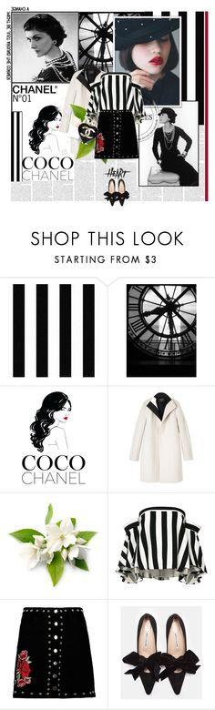 """Chanel in my heart"" by ioreth ❤ liked on Polyvore featuring Behance, Chanel, Narciso Rodriguez, Milly, Boohoo, blackandwhite, coco and kiko"