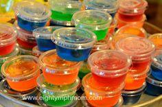 jello gummy bear cups,teen party snacks,