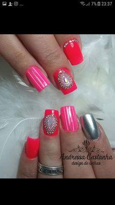 Nails, Beauty, Work Nails, Fingernail Designs, Finger Nails, Ongles, Nail, Sns Nails