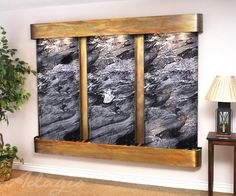 An interior fountain is ideal for the home and exemplifies grace. Were you aware setting up a contemporary waterfall inside of your client's home will add an added passive filtration system to yourspace? Its no lie.www.waterfeaturesupply.com/waterwalls/indoor-wall-water-fountains.html