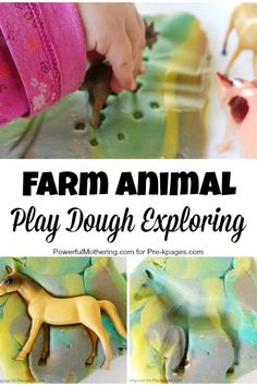 Farm Animal Play Dough Exploration for Preschool
