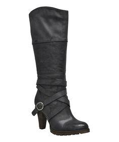 Look at this #zulilyfind! VOLATILE Black Wrap Elixir Boot by VOLATILE #zulilyfinds