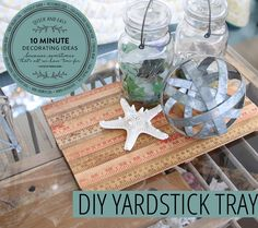 DIY Yardstick Tray 10 Minute Decorating 1024x910 Quick & Easy 10 Minute Decorating Yardstick Tray