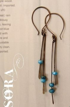 oxidized sterling silver hammered earrings