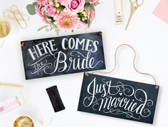♥ Please read entire listing carefully before purchasing ♥    This double-sided chalkboard sign will add a sweet, rustic detail to your wedding. Here