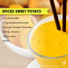 Sweet potatoes can be a nutritious addition to your Vi-Shake! LIKE if want to try this Recipe of the Week.