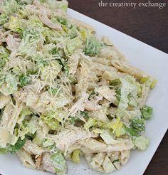 Chicken Caesar Pasta Salad. Delicious Summer Salad.