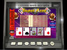 Buy Video Poker game for Online Casino - Super Aces Video Poker Videopoker card