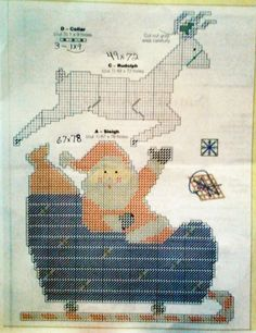 Santa delivery pattern plastic canvas 3 of 4