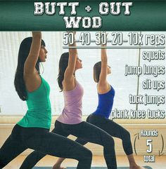 Butt and gut WOD - no equipment required