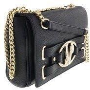 Versace Ee1vqbbj4 E899 Roomy Shoulder Bag- Gold Tone Logo Black Shoulder Bag.