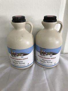 2 Hidden Springs Natural Vermont Maple Syrup Premium Grade B- 32 Oz