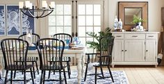 Could paint kitchen table and chairs and your cabinets could be lighter as well. Dining Room Photos, Design Ideas, Pictures & Inspiration | Birch Lane