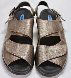 Wolky Walking Sandals Metallic Comfort Womens Healthy Feet Slingback Buckle 41 #Wolky #Slingbacks #Casual