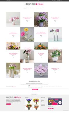 Household #florist - Beautiful #weebly template perfect for #ecommerce and professional service #websites. Download at http://www.roomythemes.com/weebly-themes