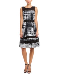 Spotted this Badgley Mischka Black Plaid Belted Fit & Flare Dress on Rue La La. Shop (quickly!).
