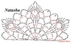Crochet Stitches Chart, Crochet Diagram, Crochet Motif, Crochet Designs, Crochet Doilies, Crochet Flowers, Crochet Lace, Crochet Patterns, Grannies Crochet