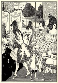 Aubrey Beardsley — Illustration in The Rape of the Lock, by Alexander Pope (London, L. Smithers, 1896)