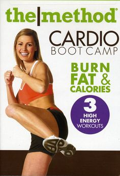 CARDIO BOOT CAMP is a high-energy cardio workout that combines Army-style physical conditioning methods with moves adopted from calisthenics, martial arts, and aerobic dance. Consists of 3 15-minute c