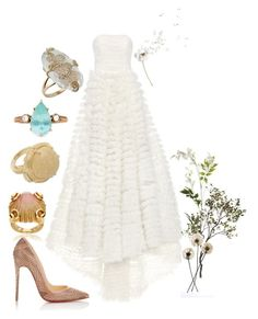 """You can tell more about a person by what he says about others than you can by what others say about him."" by mymind-is-a-warrior ❤ liked on Polyvore featuring LUISA BECCARIA, Versace, Gucci, Christian Louboutin, OKA, Crate and Barrel, white, gown and strapless"