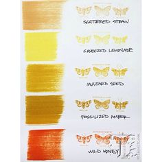 Where does Fossilized Amber fit into the Tim Holtz color chart? Right here ... courtesy of Ranger Ink. www.simplepleasuresstamps.com