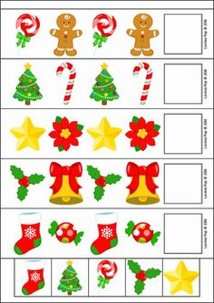 Christmas Preschool Centers. Patterns (AB pattern only).