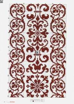 This Pin was discovered by Maa Cross Stitch Borders, Cross Stitch Flowers, Cross Stitch Designs, Cross Stitching, Cross Stitch Embroidery, Embroidery Patterns, Hand Embroidery, Cross Stitch Patterns, Knitting Charts