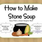 """This mini-activity pack is the perfect addition to your """"Stone Soup"""" theme. It includes a recipe, writing and class book idea and a parent letter."""