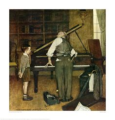 Norman Rockwell Piano Tuner