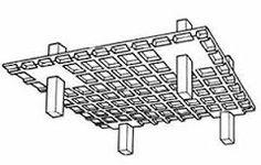 Laje nervurada - esquema com pilar e base