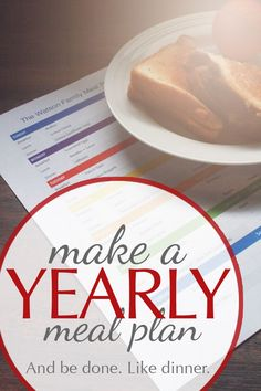 I generally don't love meal planning, but making a year-long meal plan didn't take me all that much longer than making one for the month or the season. I'm sharing the steps that I went through so that you can make one too. It's not as overwhelming as it seems!