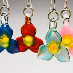 Trillium Earrings by Artwork by Jessica Landau