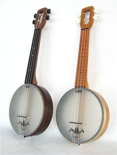 Soprano scale Firefly banjo ukulele, plays and tunes like a uke but sounds like a banjo, made in USA by Magic Fluke Ukulele Instrument, Banjo Ukulele, Ukulele Stand, Ukulele Design, Cigar Box Guitar, Mandolin, Sounds Like, Musical Instruments, Scale