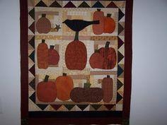 Pumpkin and Crow Quilt