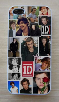 1D One Direction Harry Styles Collage Fitted Case For Apple iPhone 4/4S,5/5S,5C - $8.99