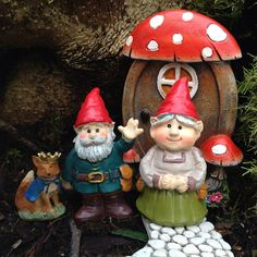 Miniature fairy garden door for fairy house with mushrooms Fairy Garden Doors, Fairy Garden Houses, Fairy Doors, Gnome Garden, Yard Gnomes, Fairy Furniture, Fairy Garden Accessories, Miniature Fairy Gardens, Elves