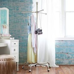 Junk Gypsy Backstage Clothing Rack #pbteen $239 - for all those clothes that have been worn once but not dirty enough to wash.