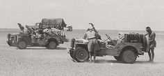 PPA Jeeps and LRDG Chevy in the Western Desert, 1943.