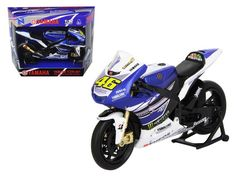 "2013 Yamaha YZR-M1 Valentino Rossi \Monster"" Moto GP #46 Motorcycle Model 1/12 by New Ray"""
