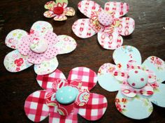 No Sew Fabric Flower Hairclips