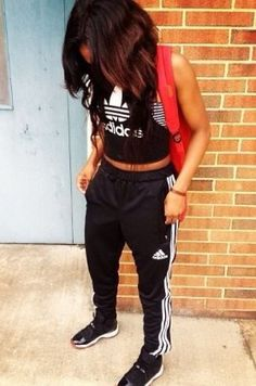 Sweats and crop top