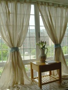 Sale: Shabby Chic Drawnwork Balloon Curtain, Pull-up Curtain, Crochet Lace Trim, French Pinch Pleat Drape, Drapery Lace Curtain Panels, Tassel Curtains, Drop Cloth Curtains, Crochet Curtains, Pleated Curtains, Rustic Curtains, Floral Curtains, Country Curtains, Cotton Curtains