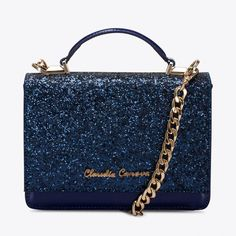 Empress Glitter Bag in Blue By Claudia canova - Fy