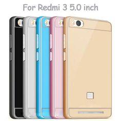 Housing Xiaomi Redmi 3 Phone Case 5.0 inch Ultrathin Metal Frame Bumper Acrylic…