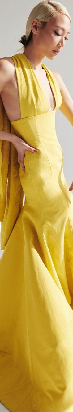 All Fashion, Womens Fashion, Mellow Yellow, Color Yellow, Catwalk, Evening Gowns, Style Me, Wrap Dress, Formal Dresses